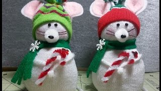Download DIY~Adorable Christmas Mouse Made From Child's D.T. Sock! EASY NO-SEW! Video
