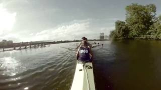 Download Harvard crew team rows down the Charles River | 360° VR video Video