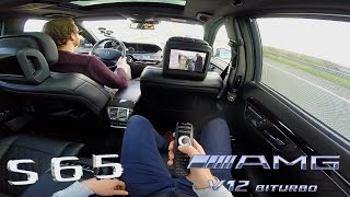 Download Mercedes Benz S65 AMG V12 BiTurbo Passenger POV Drive on TOP SPEED Video