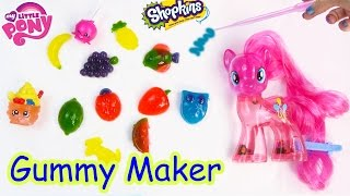 Download Real Food Gummy Creations Candy Maker Playset with MY Little Pony Pinkie Pie Shopkins Toy Unboxing Video