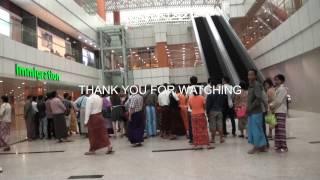 Download Newly Opened Terminal 1 at Yangon International airport , Myanmar Video