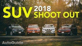 Download 4 Crossover Comparison: 2018 Honda CR-V vs Nissan Rogue vs Volkswagen Tiguan vs Chevrolet Equinox Video