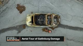 Download Aerial Tour of Gatlinburg, Tennessee Fire Damage Video
