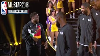 Download Kevin Hart Leads 2018 NBA All-Star Game Introductions | Team LeBron & Team Stephen Video