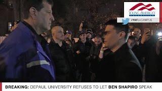 Download Exclusive Video: Ben Shapiro Barred From Entering DePaul University! Video