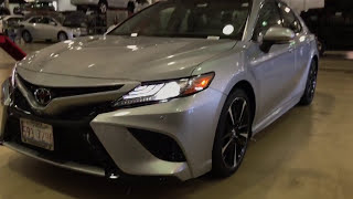 Download 2018 Toyota Camry XSE v6 Start up and Walk around indoors Video