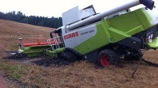 Download ″Atlantis 1 ist versunken!″ - Fendt 936, 930 & Kettenbagger retten Claas Lexion in Lettland! Video