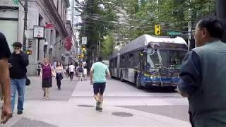 Download Walking in Downtown Vancouver BC Canada. City Life on Granville Street. Video