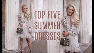 Download TOP FIVE SUMMER DRESSES | How To Style Affordable High Street Dresses | Fashion Mumblr Haul Video