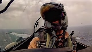 Download Aircraft Carrier Launch & Land • Cockpit Video From F-18 Video