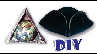 Download DIY SOMBRERO PIRATA JACK SPARROW - Como hacer sombrero de papel periódico (reciclaje) paper Video