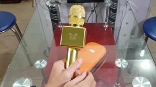 Download Trên tay Mic Karaoke X6 vàng Gold chính hãng - Phụ Kiện Vàng - 0941.854.854 Video