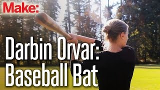 Download Darbin Orvar: Baseball Bat from Rough Sawn Lumber Video