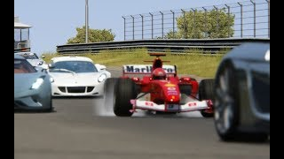 Download Ferrari F1 2004 Michael Schumacher vs Supercars at Zandvoort Video