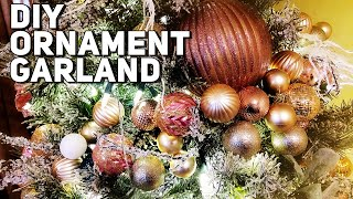 Download DIY Dollar Tree Ornament Garland- Decorate An Entire Tree for under $35 - Christmas Tutorial 2019 Video