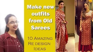 Download New outfits from old saris| Amazing 10 ideas | In Hindi| English subtitles Video