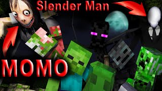 Download Monster School : PLAYING SLENDER MAN HORROR GAME - Minecraft Animation Video