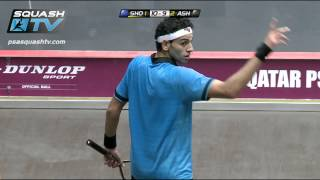 Download Squash : MegaRallies - El Shorbagy v Ashour Qatar Worlds 2012 - EP14 Video