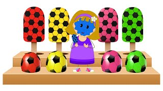 Download Learn Colors with Soccer Balls Shapes and Ice Cream Candies by KidsCamp Video