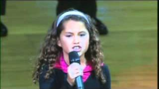 Download 9 Year Old with AMAZING VOICE Sings National Anthem at NBA Game Video