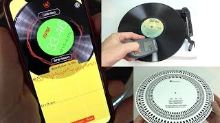Download Measuring turntable speed the easy way - with the RPM app Video