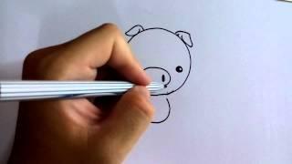 Download วาดการ์ตูนกันเถอะ สอนวาดการ์ตูน ลูกหมู หัวกลม style Q ง่ายๆ หัดวาดตามได้ Video