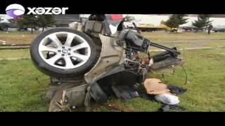 Download Bakıda MÖCÜZƏ KİMİ HADİSƏ - ″BMW X5″ iki yerə bölündü, ölən olmadı Video