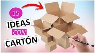 Download 15 Manualidades FÁCILES Y RÁPIDAS con cartón (RECICLAJE) Video