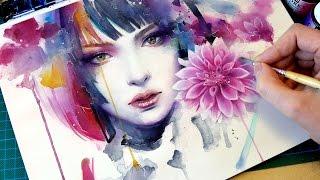 Download 【WATERCOLOR PORTRAIT】 Bloom Video