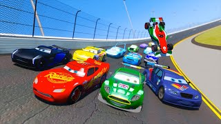 Download Race Cars 3 Daytona McQueen Jackson Storm Max Schnell Nigel Gearsley Francesco and Friends & Songs Video