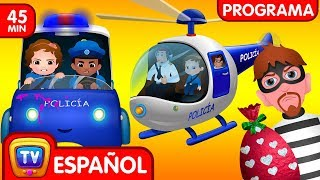 Download ChuChu TV Huevos Sorpresas de Policías – Episodio 04 - La persecución en Helicóptero (Colección) Video