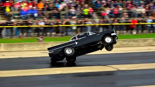 Download OLD SCHOOL Wheel Standing Championships at Byron Dragway OLD SCHOOL CARS AMERICAN MUSCLE Video
