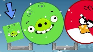 Download Angry Birds Kick Out Green Piggies - SQUARE PIG HELP GIANT ROUND PIG KICK OUT HUGE BIRDS!! Video