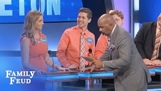 Download Can the STAPLETON'S WALK OFF with a NEW CAR? | Family Feud Video