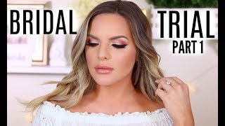 Download BRIDAL TRIAL MAKEUP TUTORIAL! WHAT AM I GOING TO WEAR? | PART 1 | Casey Holmes Video