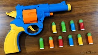 Download Realistic Toy Gun Sized 1:1 Scale .45 ACP Bulldog Revolver Toy - Rubber Bullet Toy Pistol Video