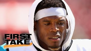 Download First Take reacts to Cam Newton mocking female reporter's question   First Take   ESPN Video