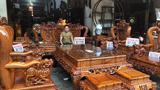 Download Bộ ghế nghê bảo đỉnh gỗ hương đá gồm 12 món A Thành Hải Phòng.ĐỒ GỖ THÀNH LUÂN Video