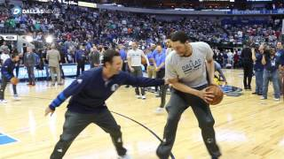 Download Watch Tony Romo warm up with the Dallas Mavericks Video