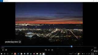 Download Nearly new moon turns to full moon then back to normal during sunset seen in California 12/2/2016 Video