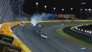 Download NASCAR Camping World Truck Series 2017. Charlotte Motor Speedway. Kaz Grala & Brandon Jones Crash Video