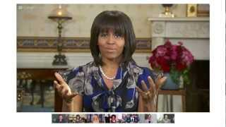 Download First Lady Michelle Obama's Fireside Google+ Hangout On Air Highlights Video