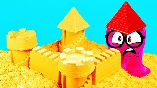 Download KINETIC SAND CASTLE of Slick Slime Sam Video