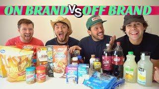 Download NAME BRAND vs GENERIC FOOD!! (Blind Taste Test) Video