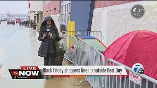 Download Black Friday shoppers line up ahead of shopping day Video