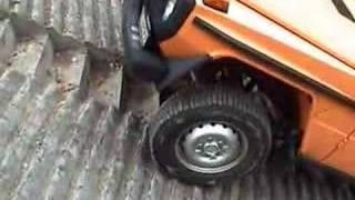 Download Mercedes G Gelandewagen going up a steep concrete hill Video