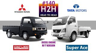 Download H2H #140 Mitsubishi L-300 vs Tata SUPER ACE Video