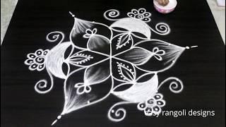 Download Diya rangoli and kolam designs for Diwali 2018 || Deepavali muggulu with 7 dots Video