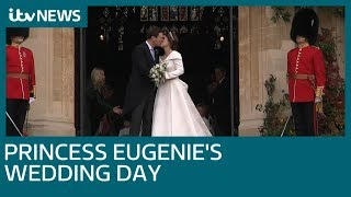 Download Princess Eugenie marries Jack Brooksbank in Windsor Castle royal wedding | ITV News Video