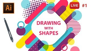 Download Drawing with Shapes in Adobe Illustrator CC - LIVE stream #1 Video